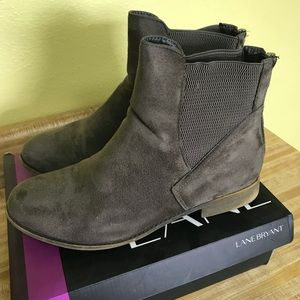 Women's Lane Bryant brand gray suede boots